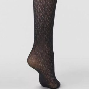 Burberry monogram motif tights in black